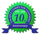 On-Site Computer Cleaning celebrates 10 years of outstanding service!