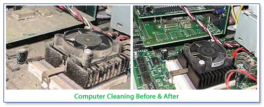 Computer Cleaning Before & After