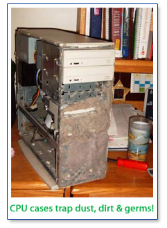 CPU cases can become traps for dust, dirt & germs!
