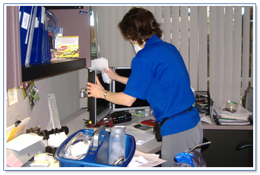 When was the last time you had your keybaord and telephone cleaned & sanitized?